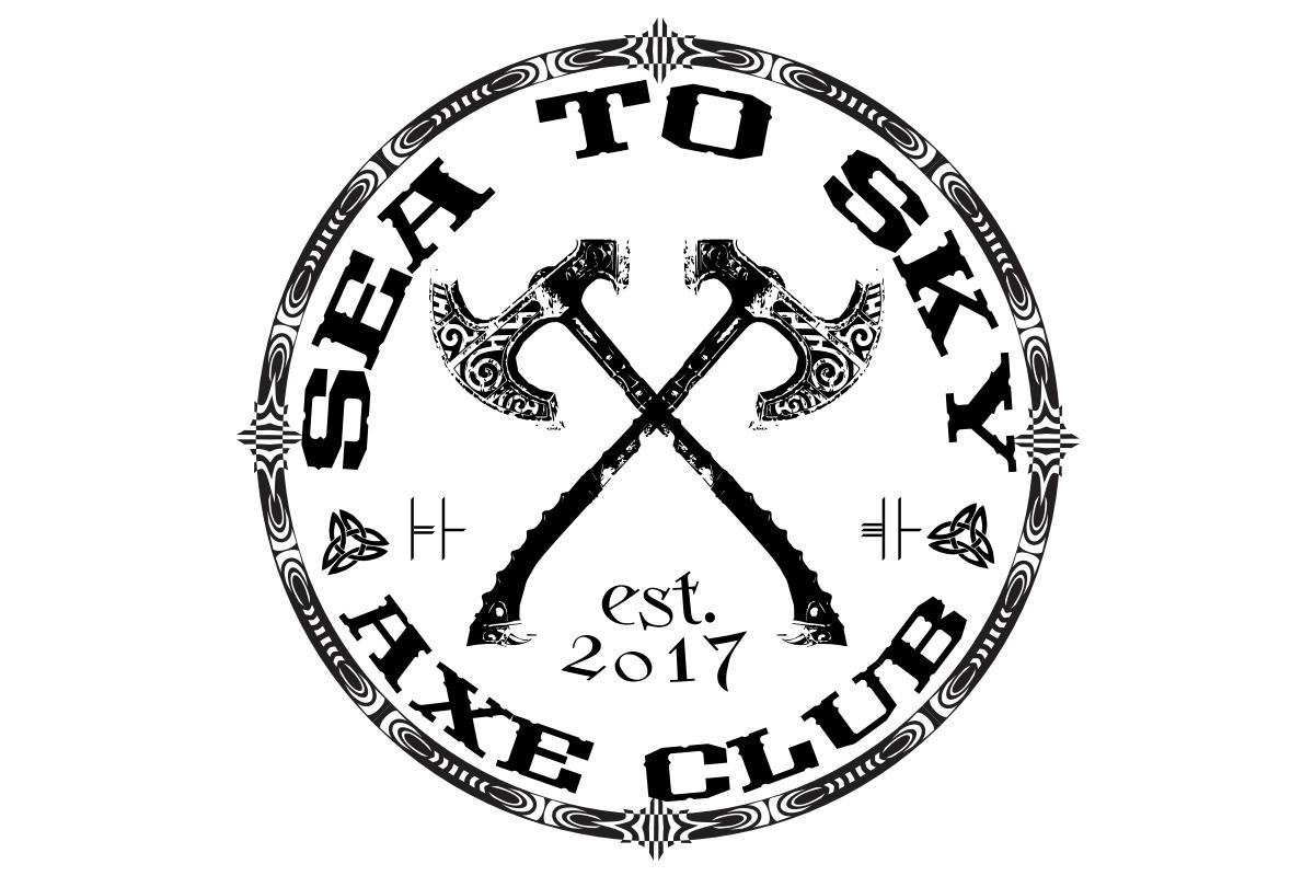 Masculine bold logo design for sea to sky axe club by fcurtis logo design by fcurtis for sea to sky axe clubindoor axe throwing design biocorpaavc Choice Image