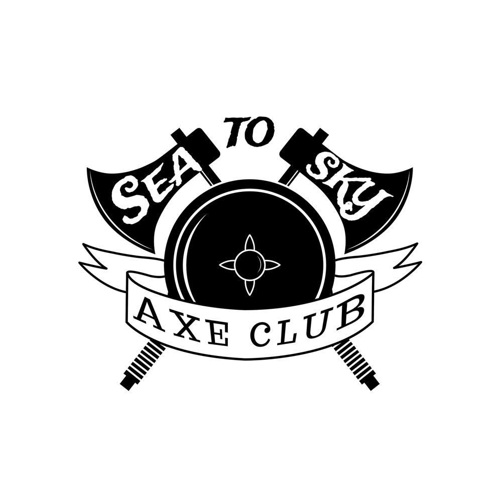 Masculine bold logo design for sea to sky axe club by gajdorendre logo design by gajdorendre for sea to sky axe clubindoor axe throwing design biocorpaavc Choice Image