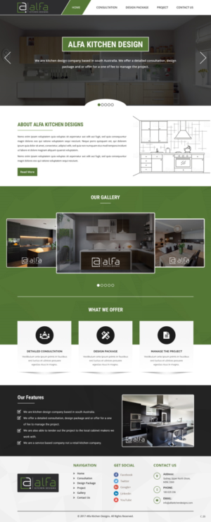 Modern Serious Web Design Job Web Brief For Alfa Kitchen Designs A Company In Australia