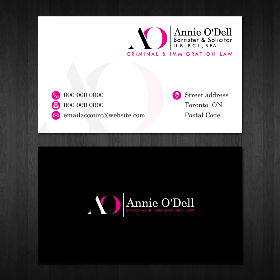 Playful, Bold Business Card Design for Annie O\'Dell by Bluemedia ...