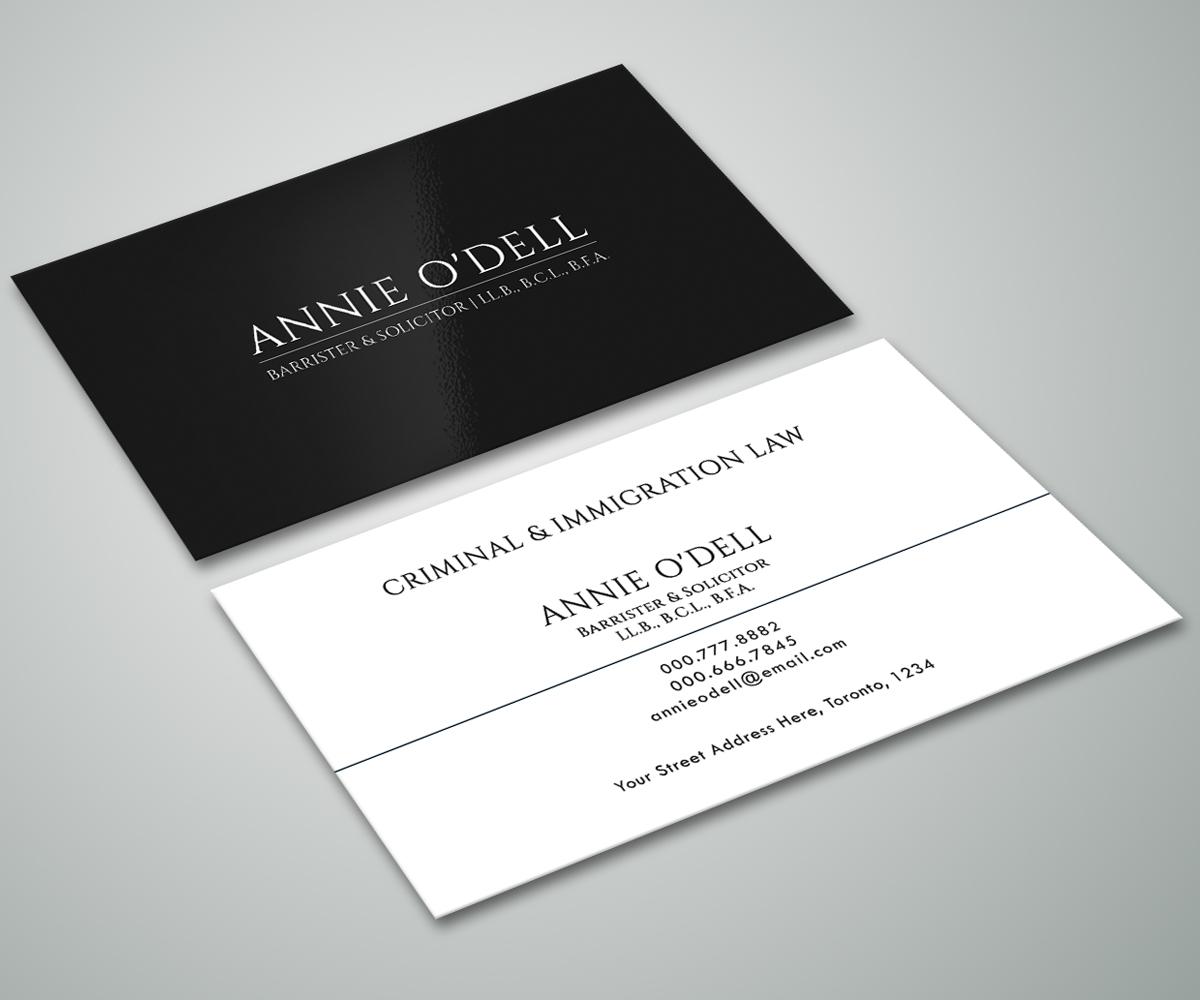 Spielerisch Fett Lawyer Visitenkarten Design Für Annie O