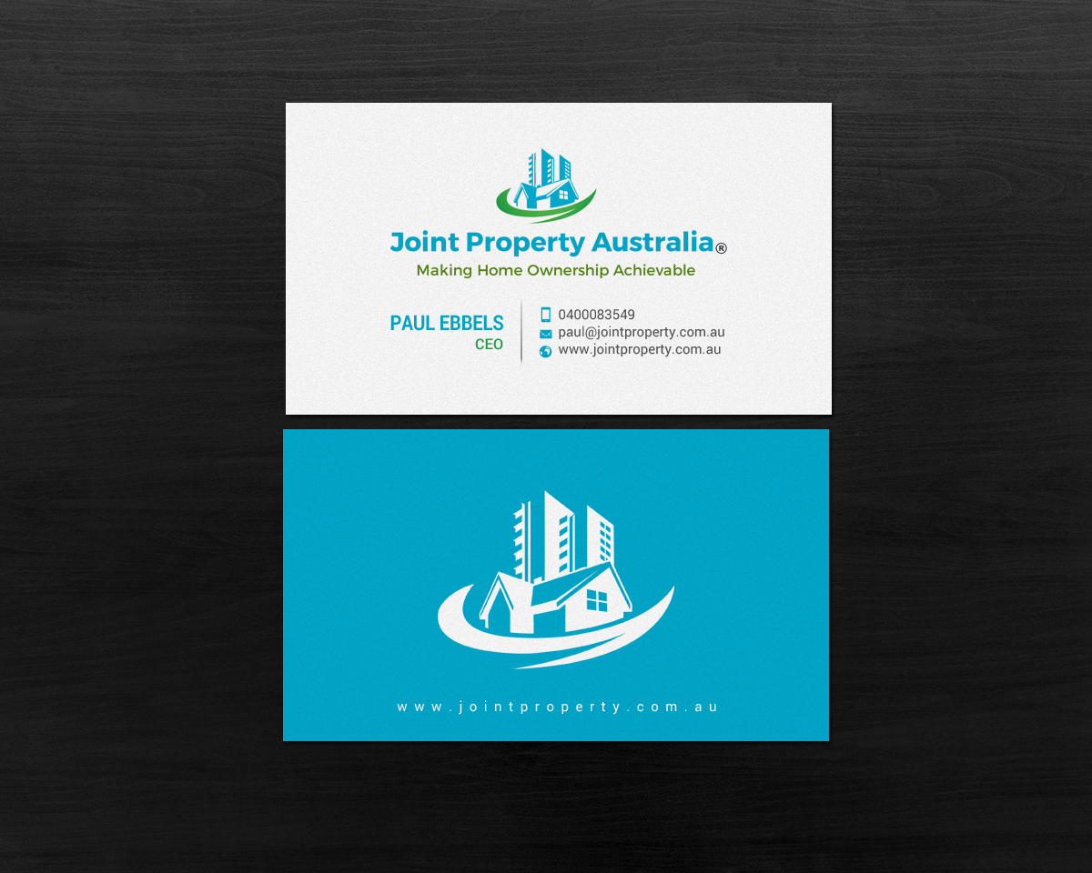 Professional bold real estate business card design for joint business card design by chandrayaaneative for joint property australia design 15149507 reheart Image collections