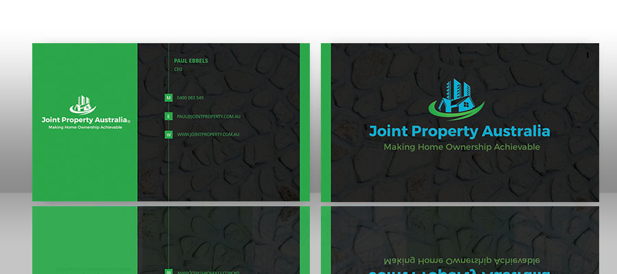Professional bold real estate business card design for joint business card design by mohammad jahran chowdhury for joint property australia design 15199655 reheart Image collections