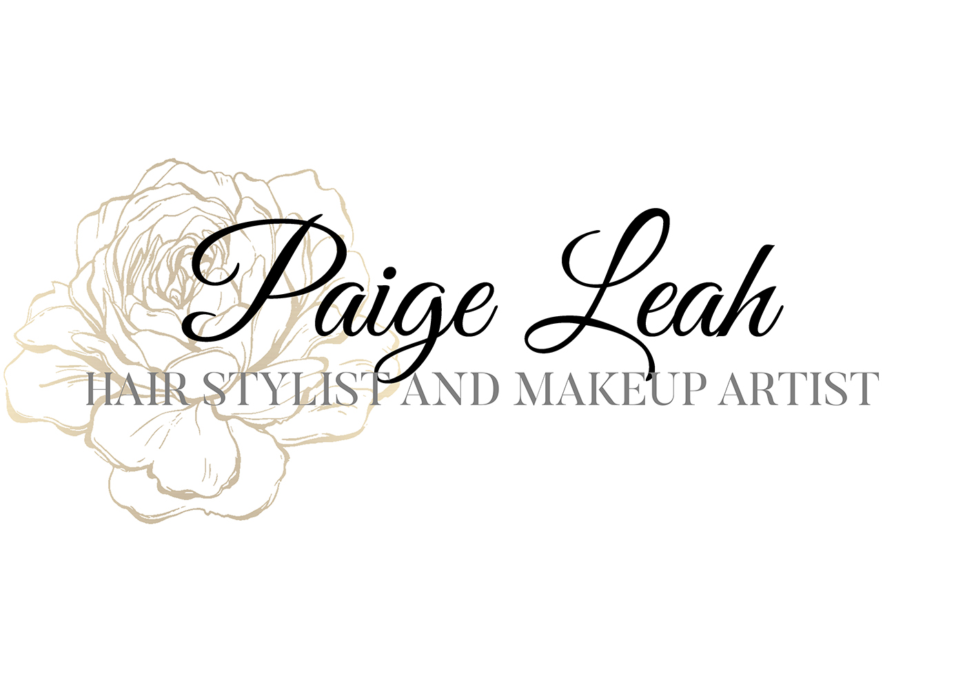 Paige Leah Logo Design by michaelw3105 for a Hair Stylist and Makeup Artist