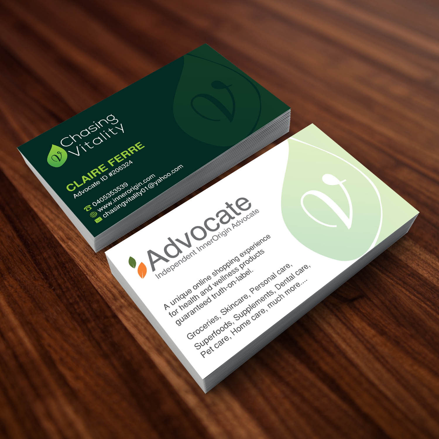 Personable economical health and wellness business card design for business card design by creative jiniya for this project design 15146169 colourmoves