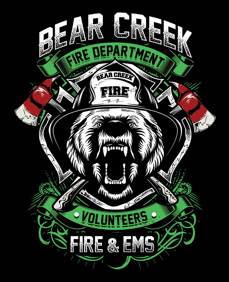 Bold Serious Fire Department T Shirt Design For Same As Attached