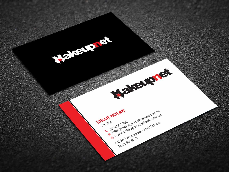 Bold, Modern, Cosmetics Business Card Design for Makeupnet Pty Ltd ...