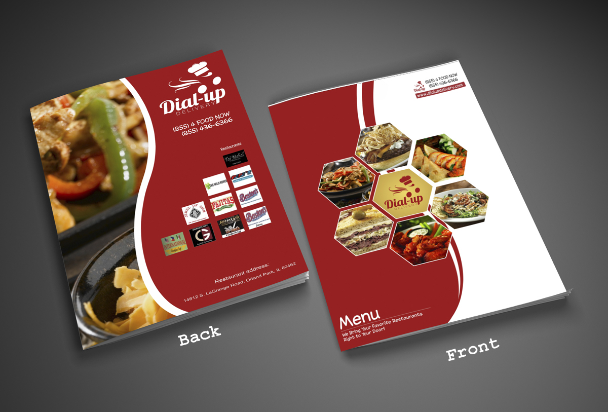 Playful Modern Restaurant Magazine Design For Dial Up Delivery By Noukta Lakeer Design 2609616