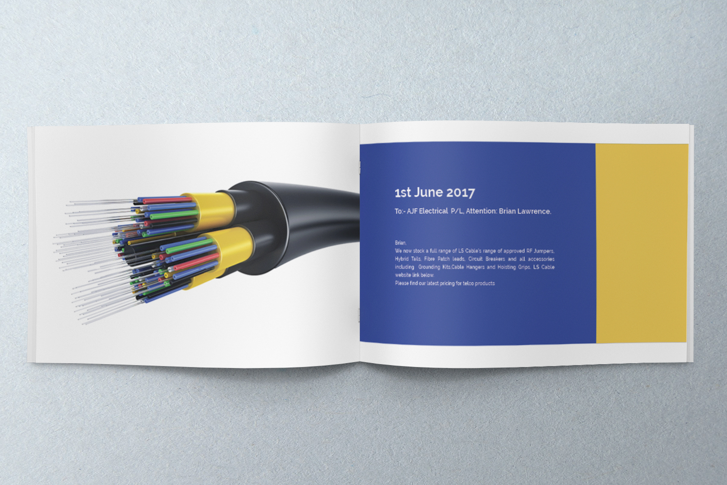 professional upmarket telecommunications catalogue design for a