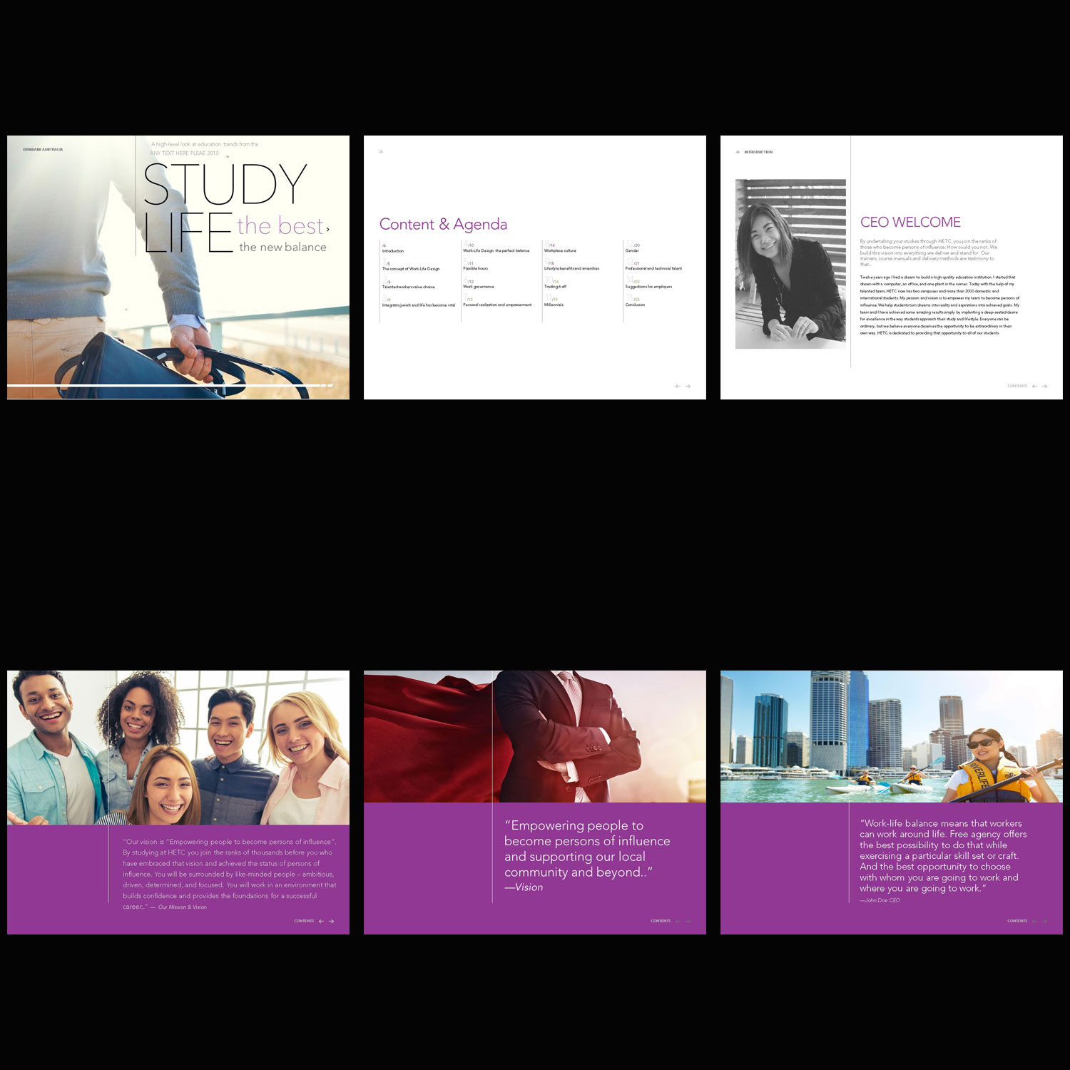 Modern, Colorful, Education PowerPoint Design for HETC by