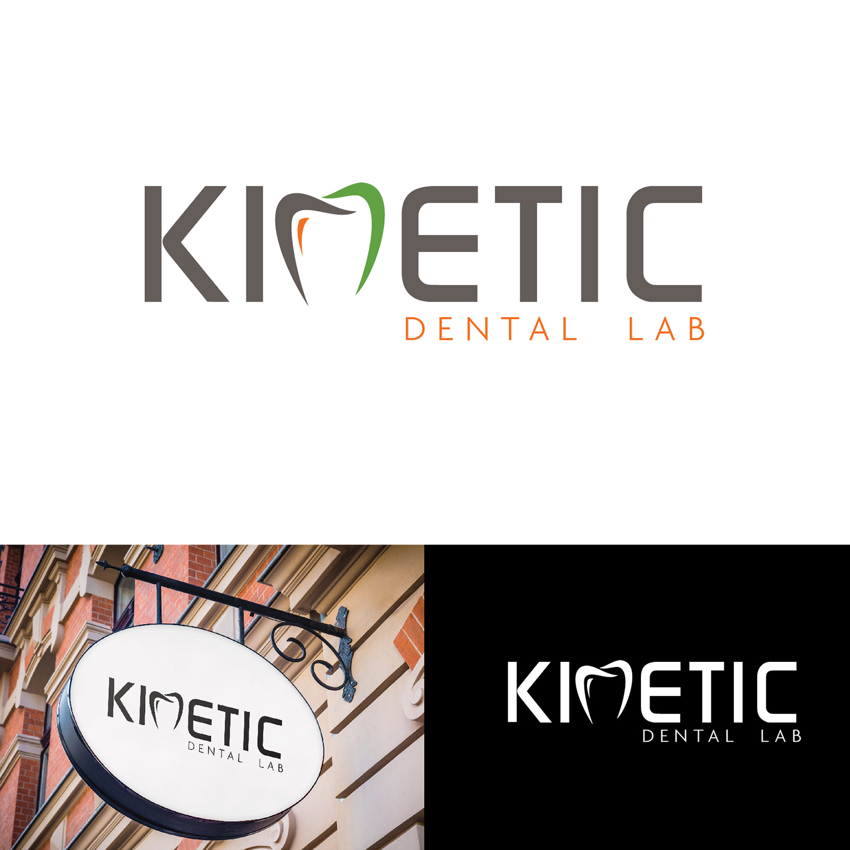 Bold, Modern, Dental Logo Design for Kinetic Dental Lab by