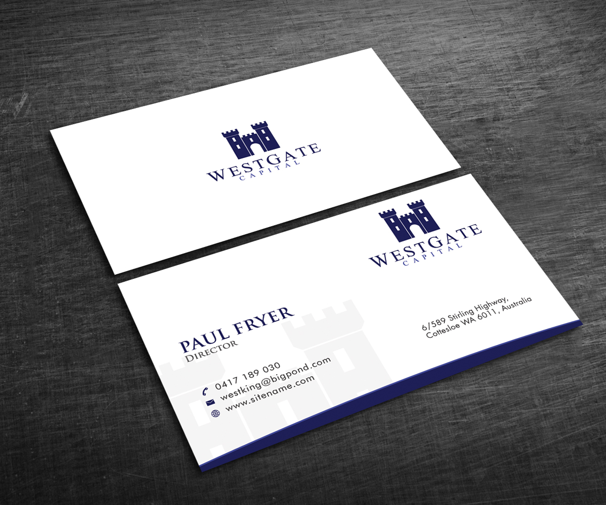 247 Professional Business Card Designs Finance Business Card