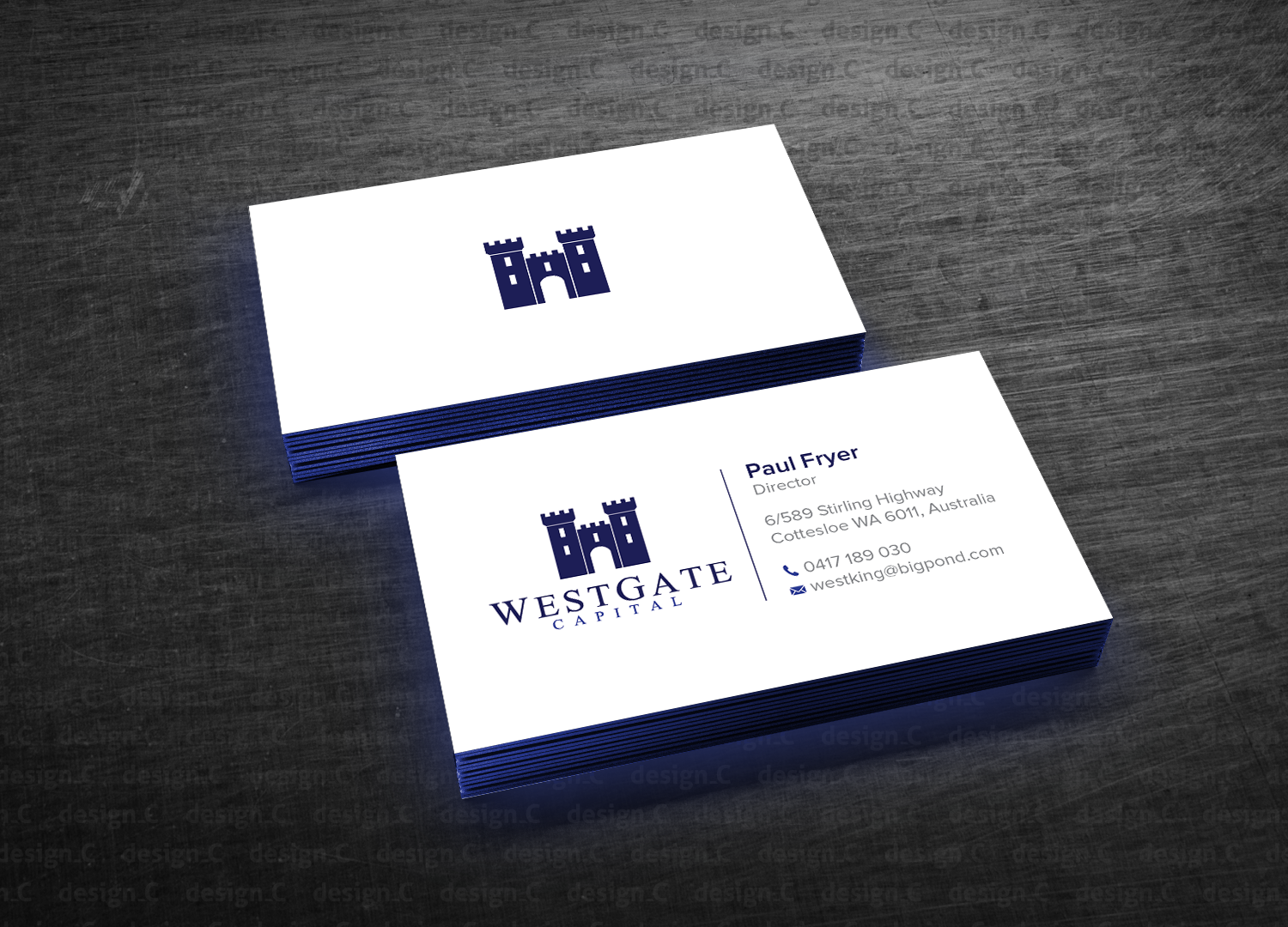 Professional, Masculine, Finance Business Card Design for a Company ...