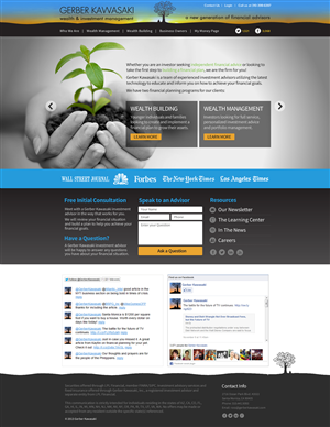 Web Design by TechWise - Full Screen Design for Santa Monica Financial A...