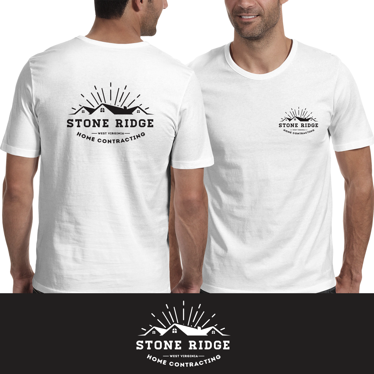 Masculine, Bold, Home Builder T-shirt Design for Stone Ridge Home ...