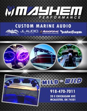 Flyer Design Job   MAYHEM PERFORMANCE CUSTOM MARINE AUDIO   Winning Design  By Citygirl17