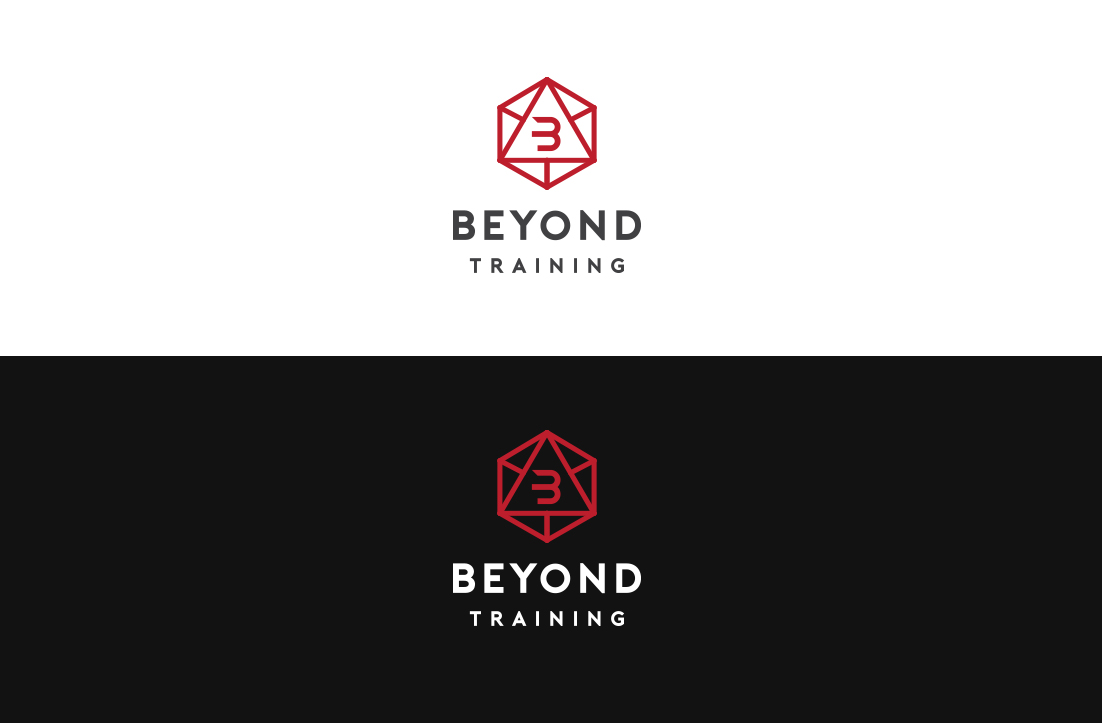 colorful elegant personal trainer logo design for beyond