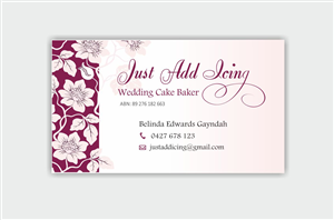 Flowery business card design galleries for inspiration just add icing business card design by inesero reheart Choice Image