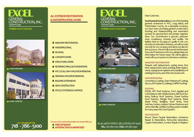 Brochure Design Job Brochure Brief For Excel Construction