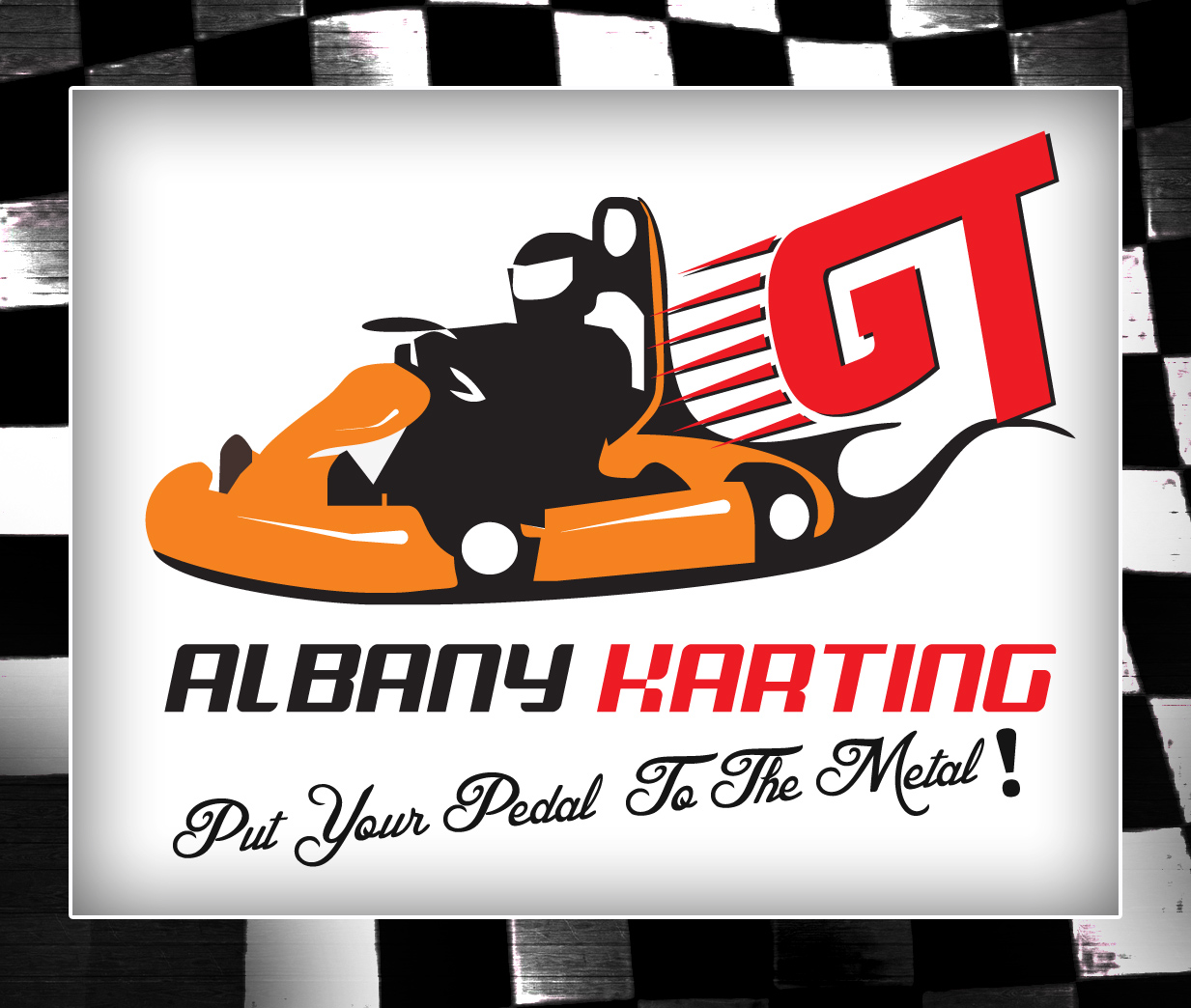 Graphic Design Logo Design for Albany GT Karting - Put Your Pedal To