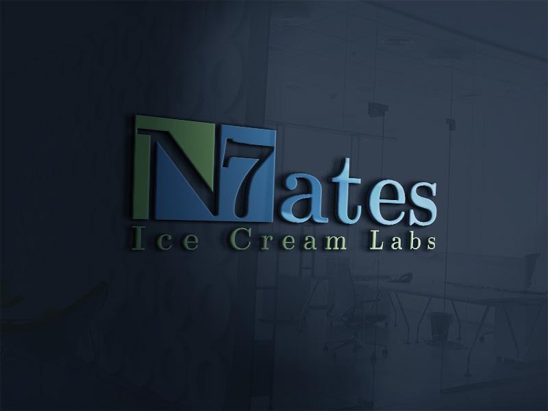 Elegant Playful Shop Logo Design For N7ates Ice Cream Labs The 7