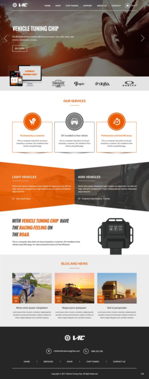 VEHICLE TUNING CHIP ONLINE SHOP | 18 Web Designs for VTC