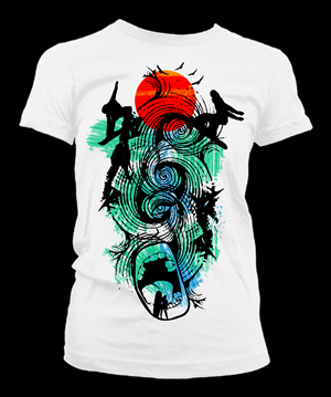T-shirt Design by Fashion.Designer - Dylan's Surf (Design #1)