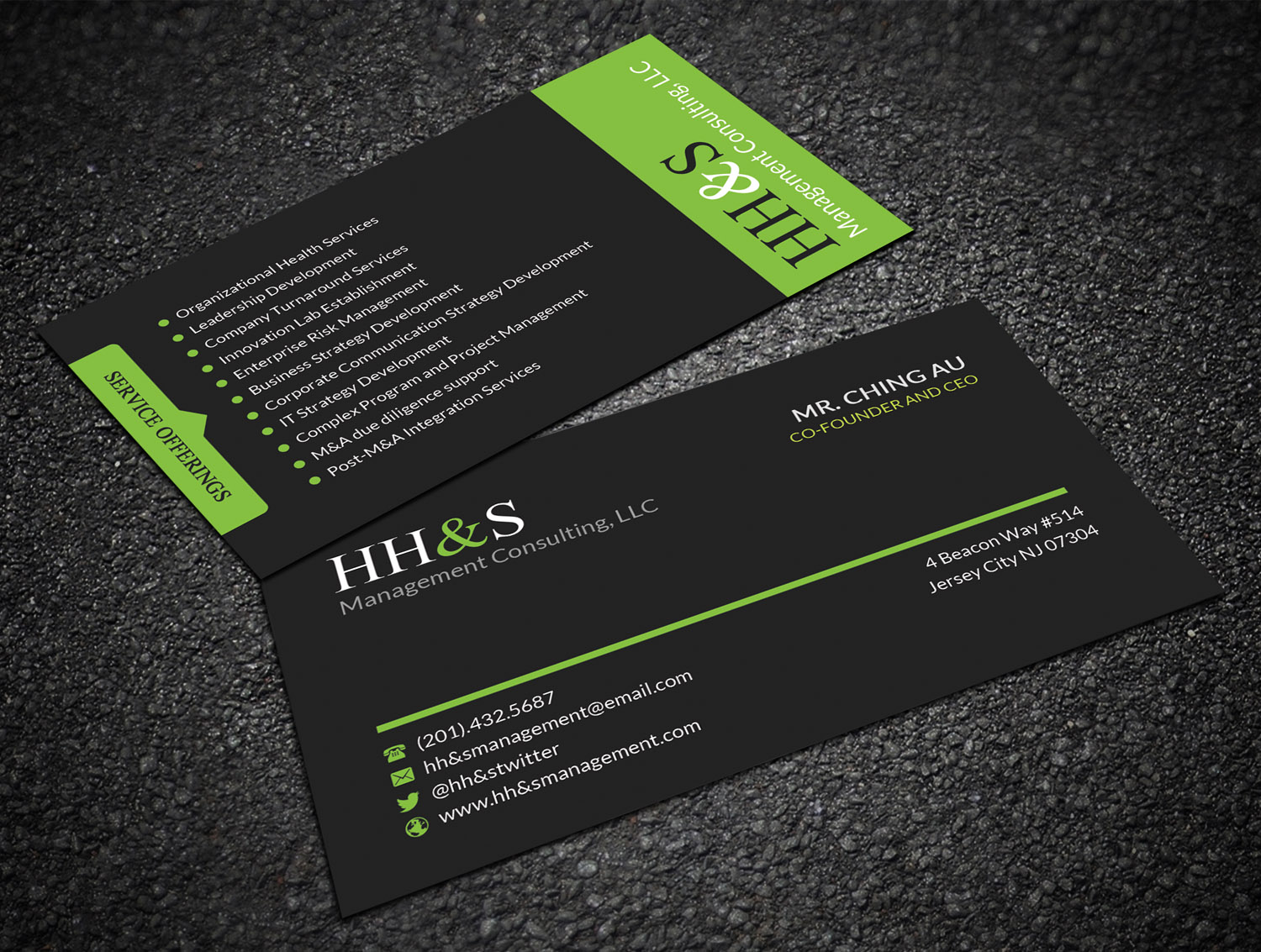 Business card design for hhs management consulting llc by business card design by sandaruwan for business card design project design 15212767 reheart Choice Image