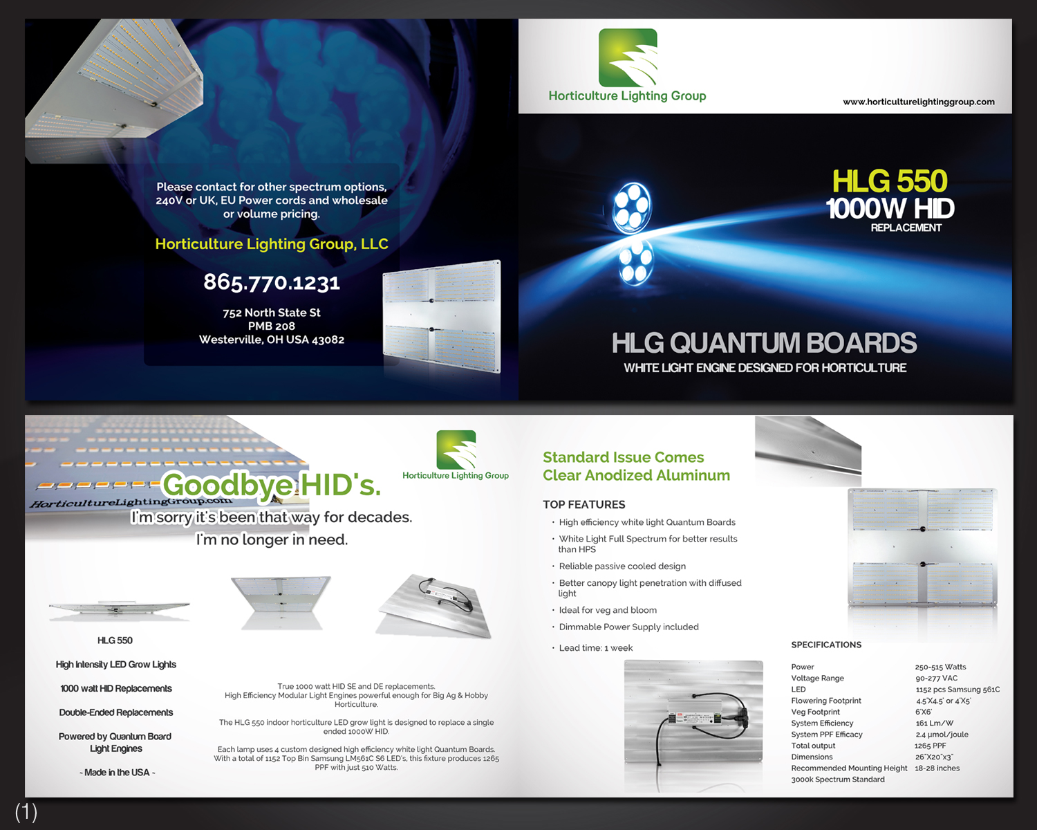 bold professional it company brochure design for horticulture