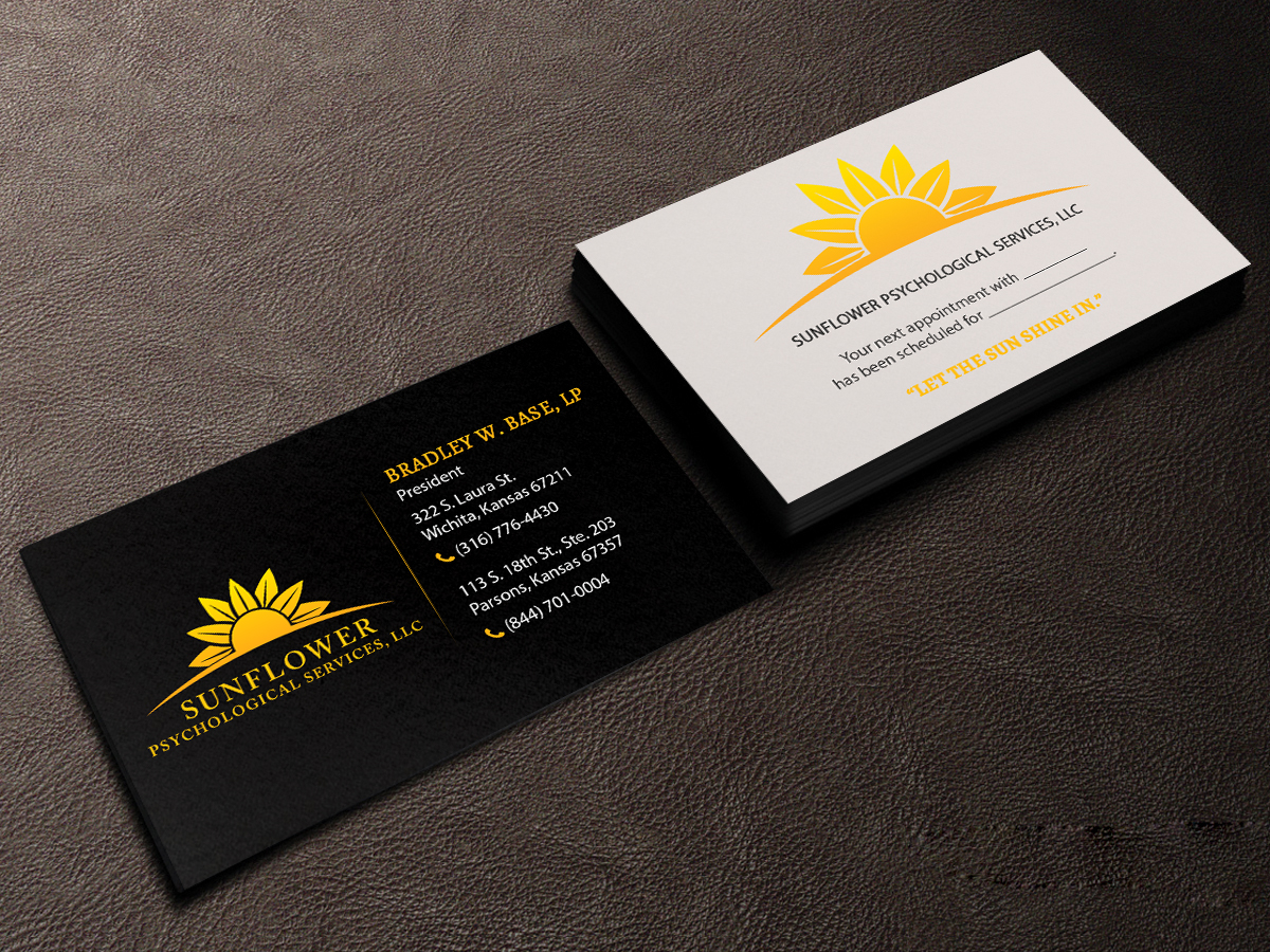 business card design by creations box 2015 for sunflower psychological services llc design