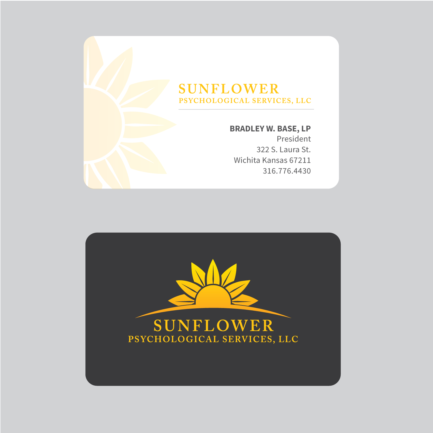 business card design by elephont designs for sunflower psychological services llc design 15215119
