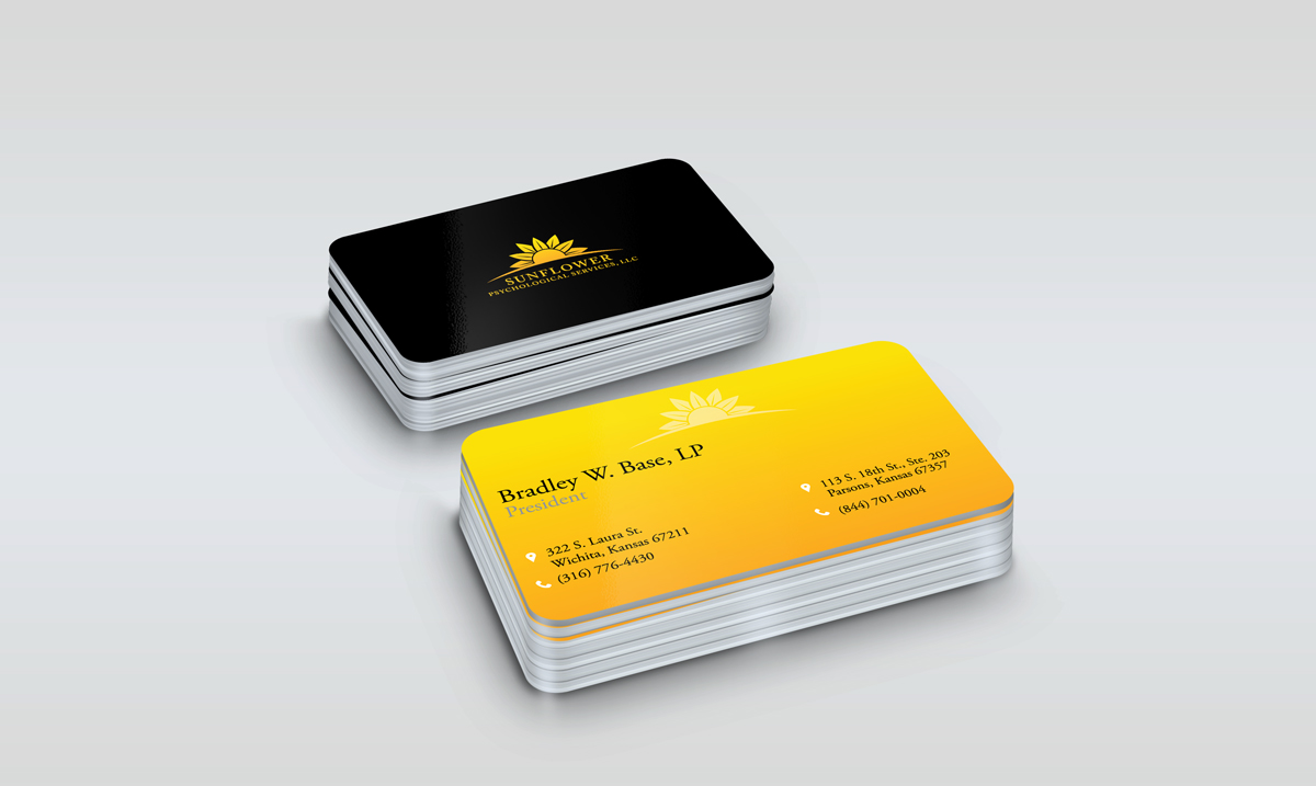 business card design by mahmoud nasr for sunflower psychological services llc design 15215373