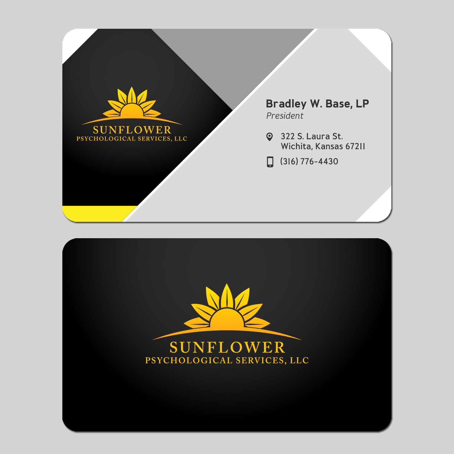 business card design by prasanth jay for sunflower psychological services llc design 15240481