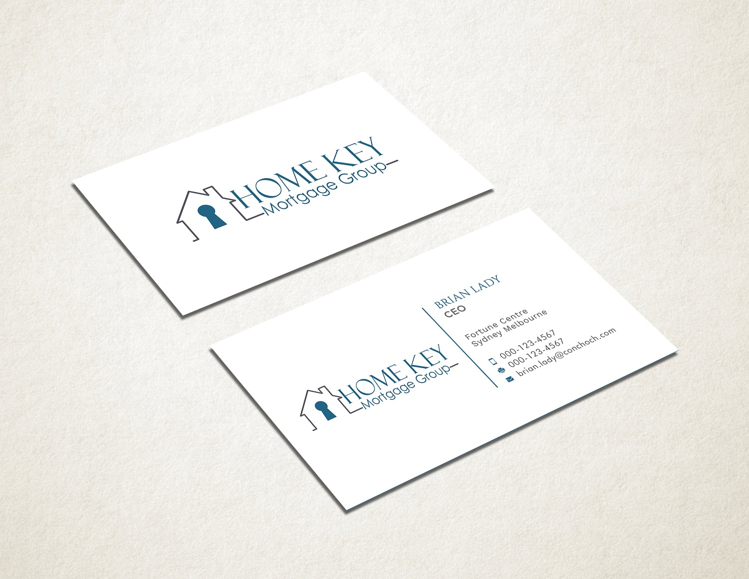 Business Card Design for Home Key Mortgage Group by Graphic Flame ...
