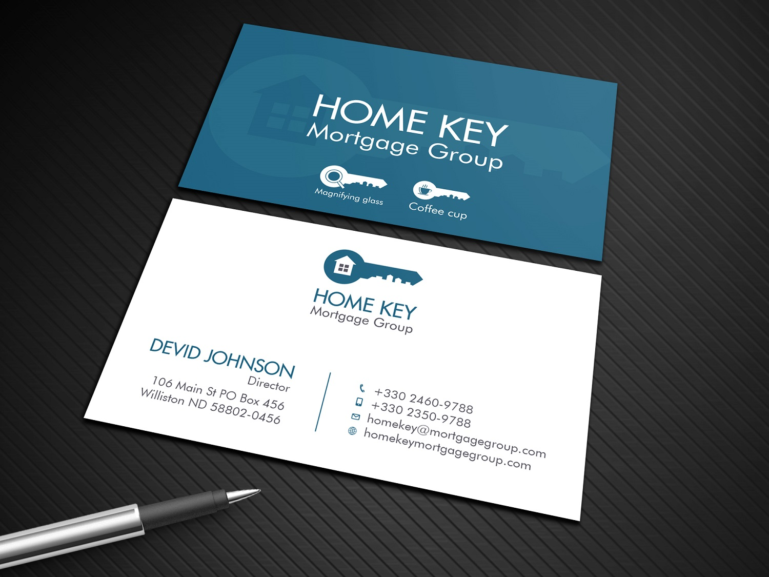 It company business card design for home key mortgage group by business card design by designcrowd for home key mortgage group design 15258292 colourmoves