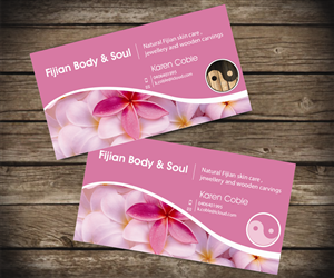 41 professional business card designs for a business in australia business card design design 2591337 submitted to beauty and home decor closed junglespirit Gallery