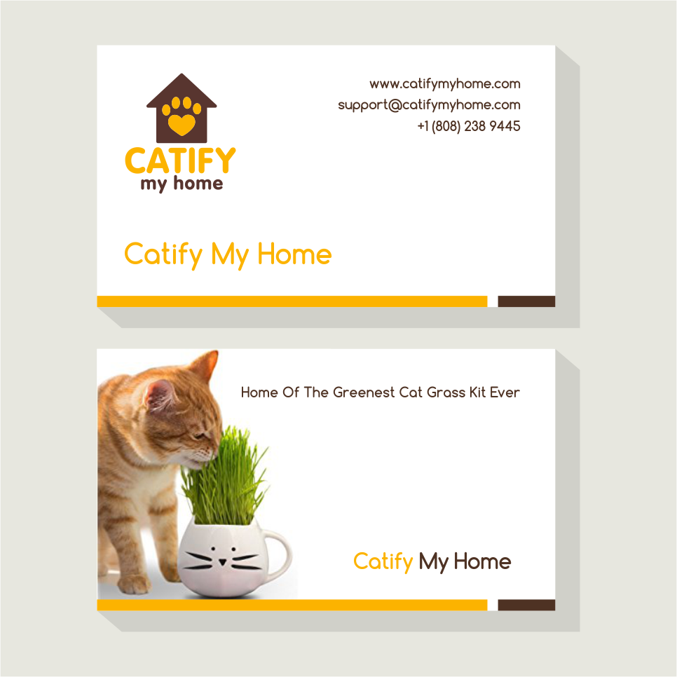 Modern Feminine Pet Care Business Card Design For Catify My Home