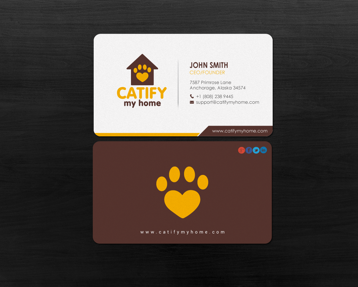 Feminine Pet Care Business Card Design