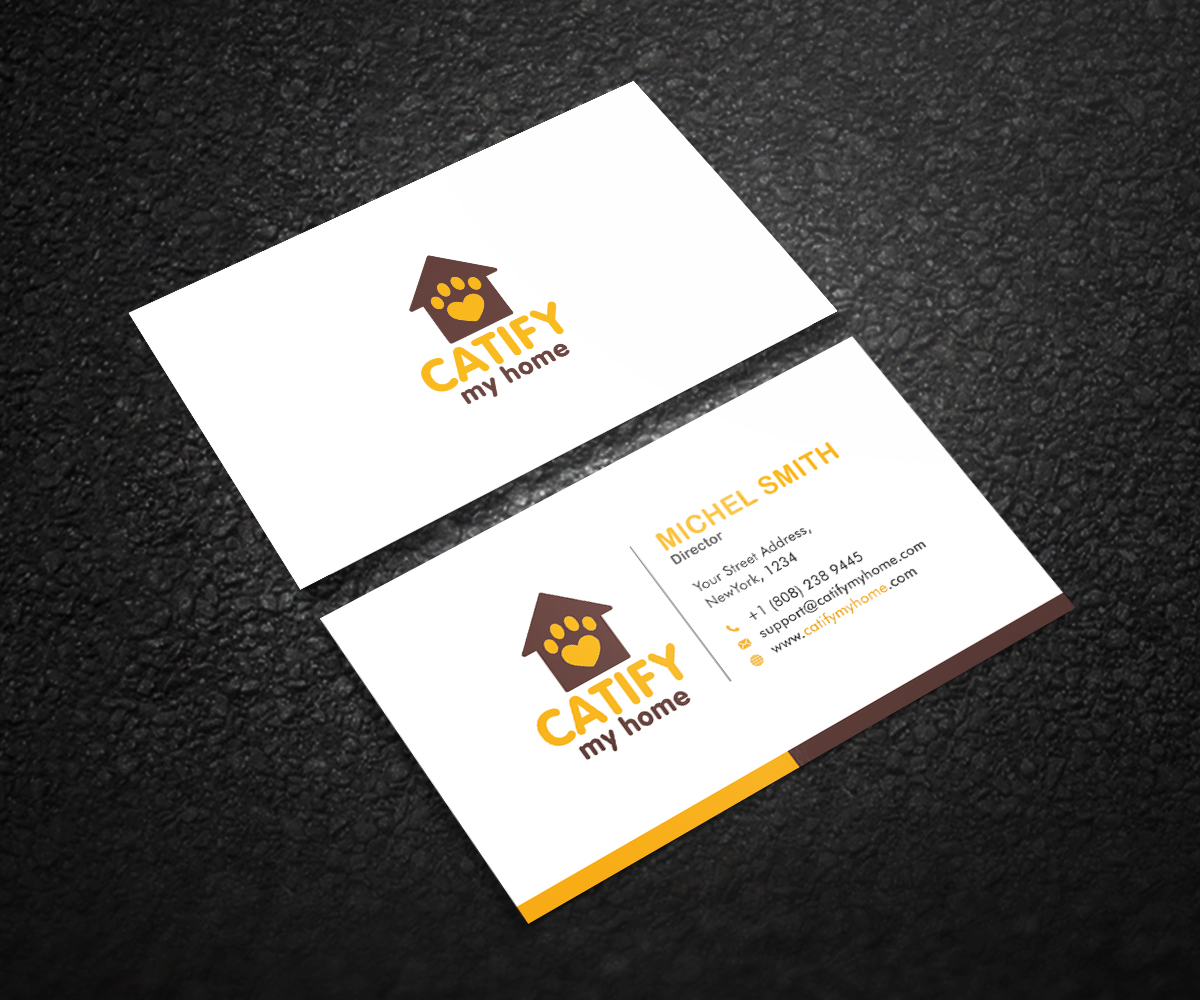Modern, Feminine, Pet Care Business Card Design for Catify My Home ...