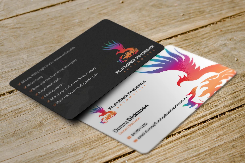 61 bold business card designs automotive business card design business card design by riz for flaming phoenix automotive design 15582812 colourmoves