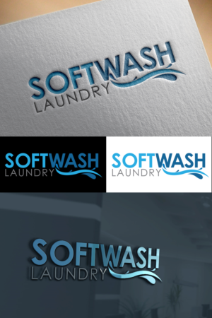 Logo Design 15306841 Submitted To SoftWash Laundry Closed
