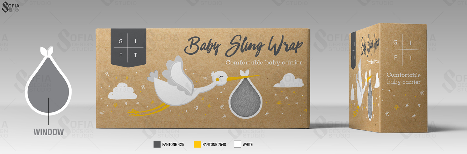 Playful Modern Baby Care Packaging Design For A Company By
