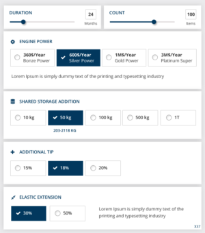 web design job price calculator as responsive web app to support sales people winning