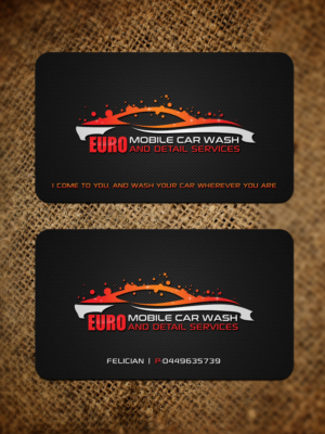 business card design by sandaruwan for this project design 15246094 - Car Wash Business Cards