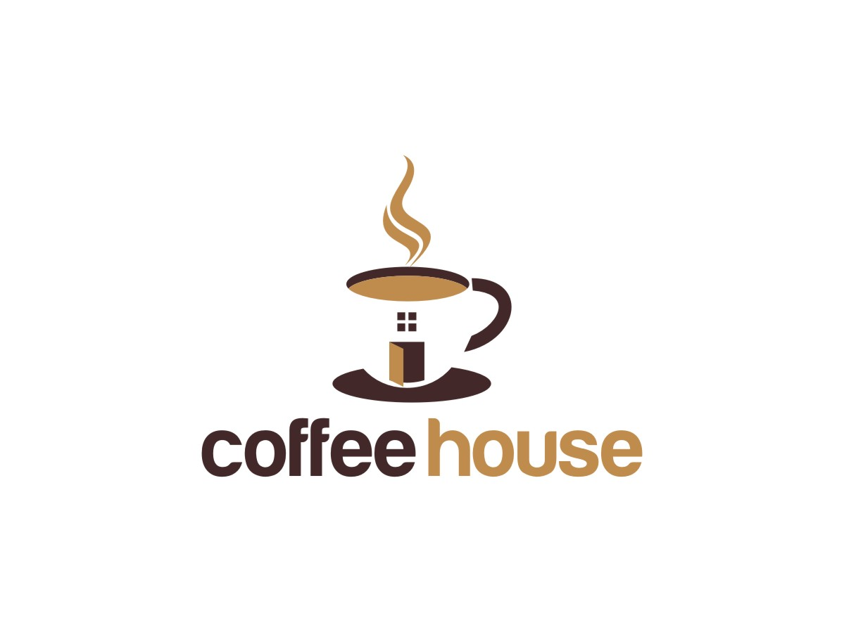 Coffee house logo images galleries for Household design logo