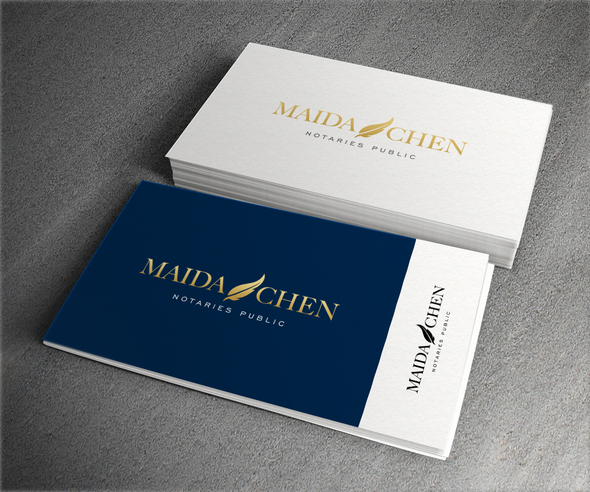 Professional upmarket legal logo design for maida chen notary logo design by aglaronde23 for this project design 15420778 reheart Gallery