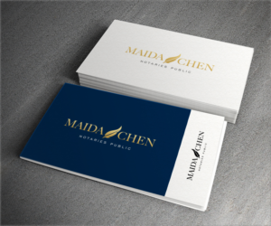 logo design job new legal office partnership notary logo and business card design - Notary Business Cards