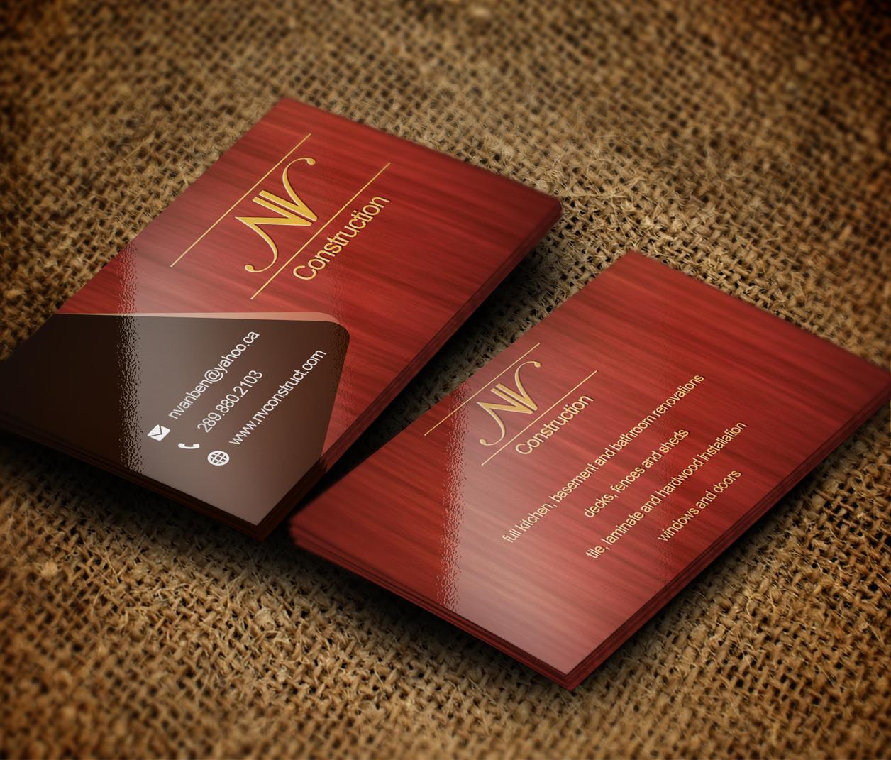Elegant playful business card design for nate vanbenthem by business card design by stefan for home renovation business needs a logo and business card design magicingreecefo Gallery