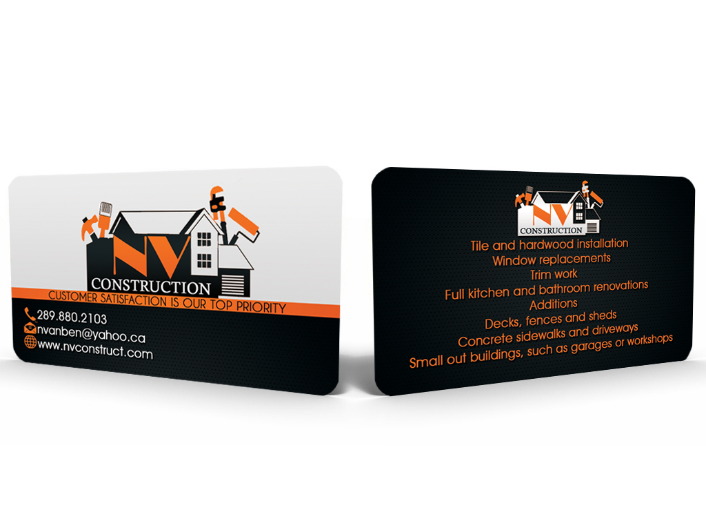 Elegant playful business card design for nate vanbenthem by business card design by sandun harshana for home renovation business needs a logo and business card magicingreecefo Gallery