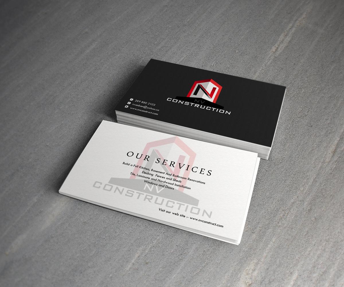 Elegant playful business card design for nate vanbenthem by ncmax business card design by ncmax for home renovation business needs a logo and business card design magicingreecefo Gallery